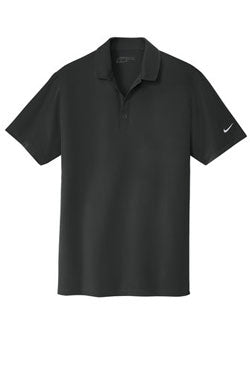 Black Nike Dri-FIT Stretch Woven Polo With Logo