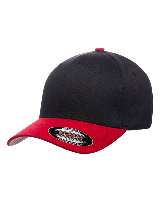 Black/Red Custom Yupoong Flexfit Cap Hat