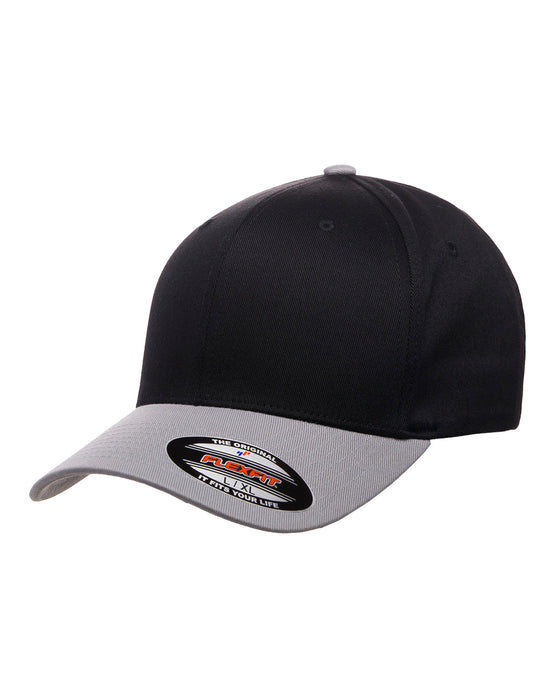 Black/Silver Custom Yupoong Flexfit Cap Hat