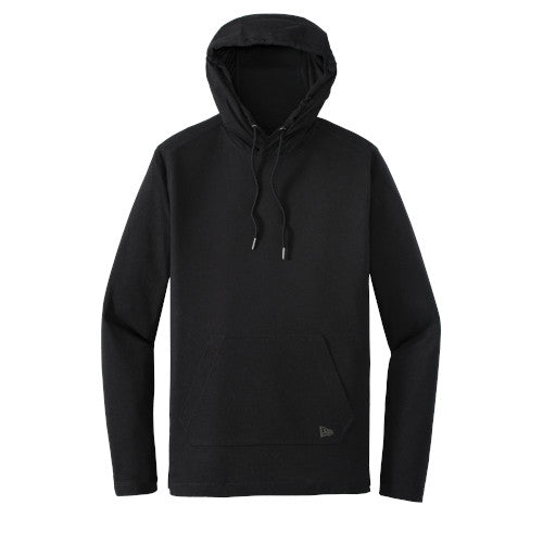 Black Custom New Era Tri-Blend Performance Pullover Hoodie Tee