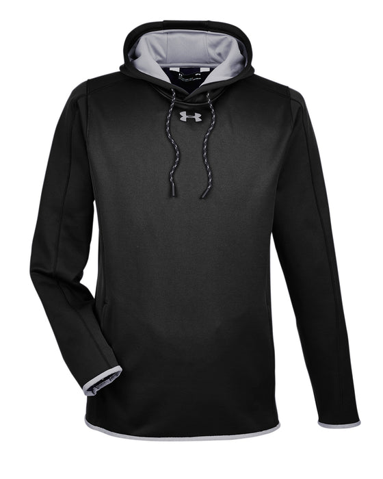 Black/Steel Custom Under Armour Team Hoodie