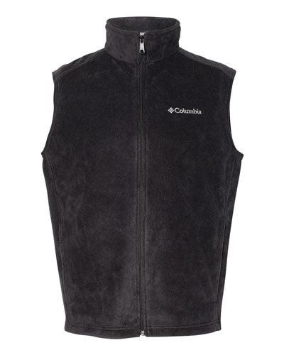 Black Custom Columbia Steens Mountain Fleece Vest