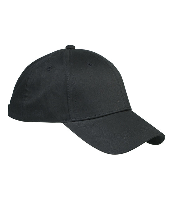 Black Custom Structured Embroidered Hat