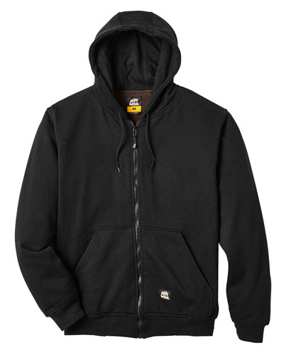 Black Custom Thermal Lined Full Zip Sweatshirt