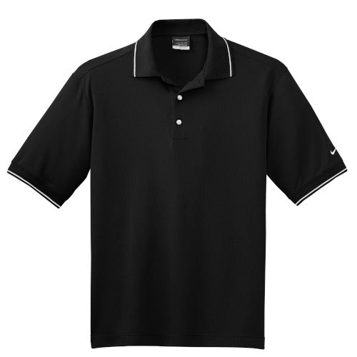 Black Tipped Nike Dri-FIT Golf Shirt With Logo