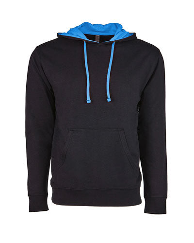 Black/ Turquoise Custom Next Level Unisex French Terry Pullover Hoody