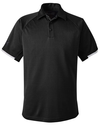 Black Custom Under Armour Rival Polo