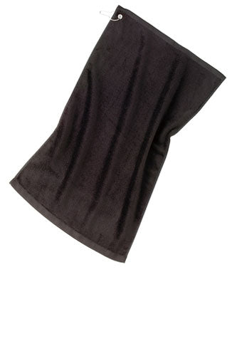 Black Custom Velour Golf Towel