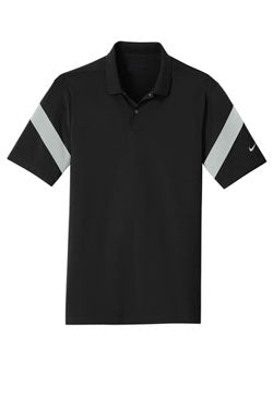 Black/ Wolf Grey Nike Dri-FIT Commander Polo With Logo