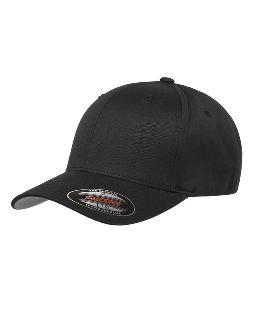 Black Custom Yupoong Flexfit Cap Hat