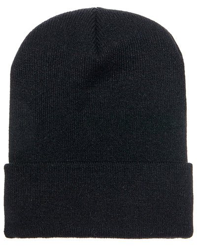 Black Custom Yupoong Knit Cap