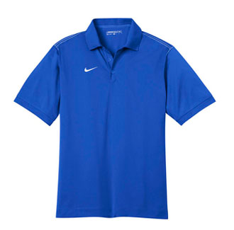 Blue Sapphire Nike Dri-FIT Sport Swoosh Pique Polo With Logo