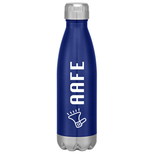 Blue Custom Cola Shaped Stainless Steel Bottle