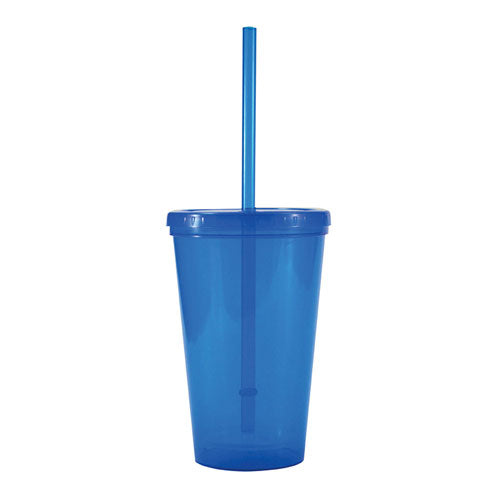 Blue Custom Double Wall Tumbler