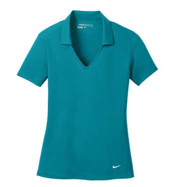 Blustery Nike Ladies Dri-FIT Vertical Mesh Polo With Logo