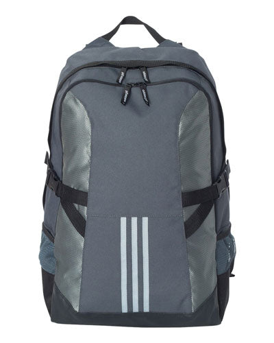 Bold Onyx/ Light Grey/ Black Custom Adidas - 3 Stripe Backpack