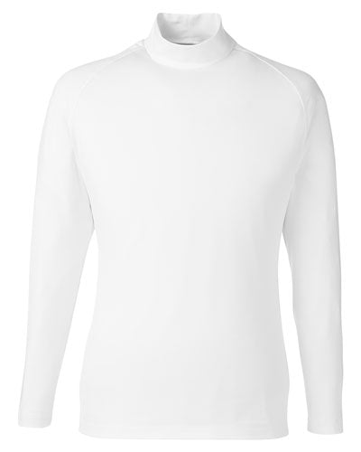Bright White Custom Puma Golf Men's Raglan Long Sleeve Baselayer