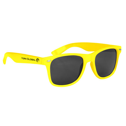 Bright Yellow Custom Malibu Sunglasses