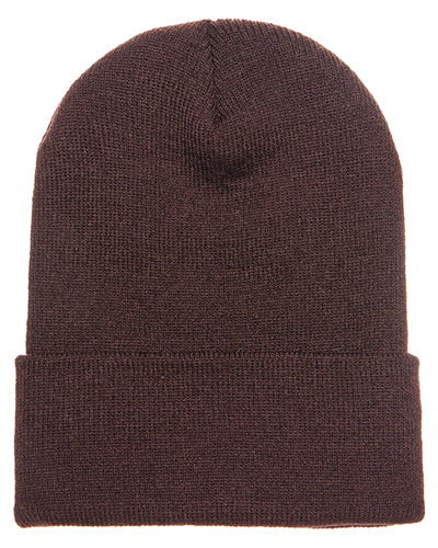 Brown Custom Yupoong Knit Cap