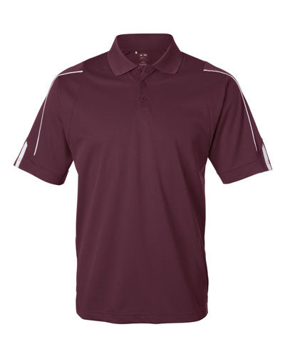 Burgundy Custom Adidas 3 Stripe Cuff Polo