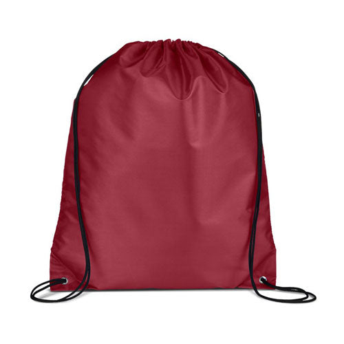 Burgundy Custom Drawstring Backpack