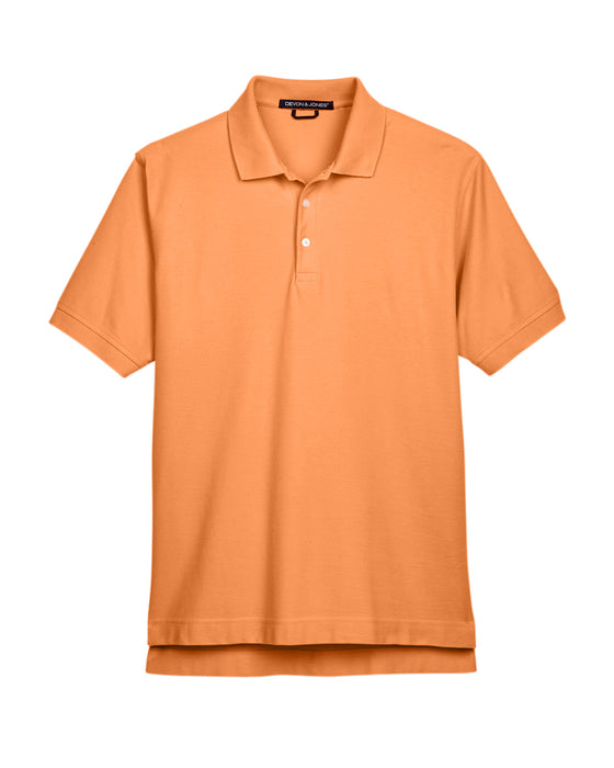 Cantaloupe Devon & Jones Pima Pique Polo With Logo