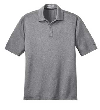 Carbon heather Nike Dri-FIT Heather Polo With Logo