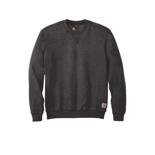 Carbon Heather Custom Carhartt Midweight Crewneck Sweatshirt