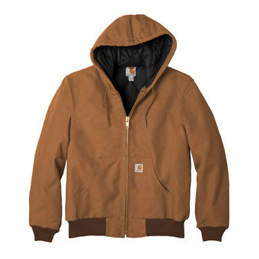 Carhartt Brown Custom Carhartt Flannel Lined Jacket