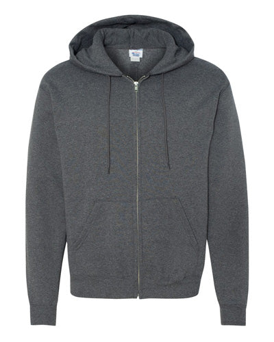 Charcoal Heather Custom Champion Full Zip Hoodie Sweatshirt