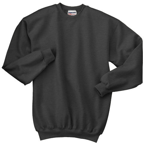 Charcoal Heather Custom Hanes Crewneck Sweatshirt