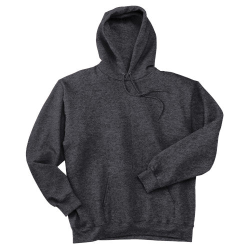 Charcoal Heather Custom Hanes Hooded Sweatshirt