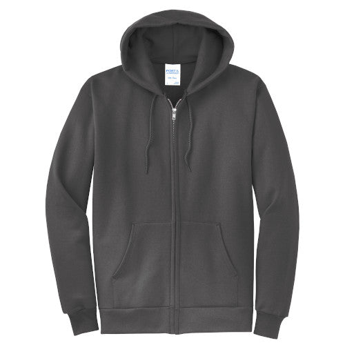 Charcoal Custom Full Zip Hooded Sweatshirt