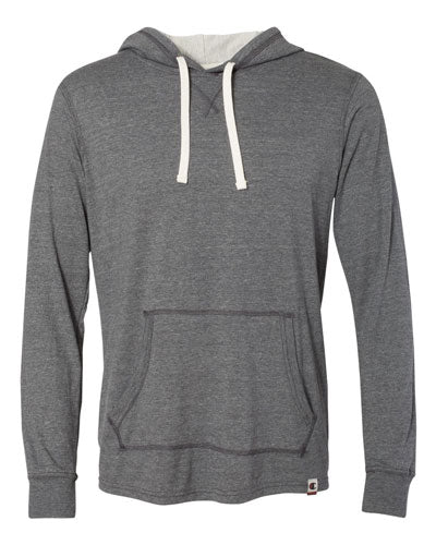 Charcoal Heather Custom Champion Originals Triblend Hooded Pullover
