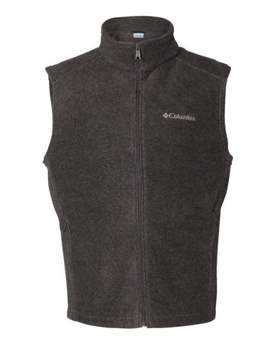 Charcoal Heather Custom Columbia Steens Mountain Fleece Vest