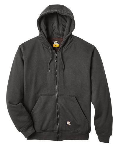 Charcoal Custom Thermal Lined Full Zip Sweatshirt
