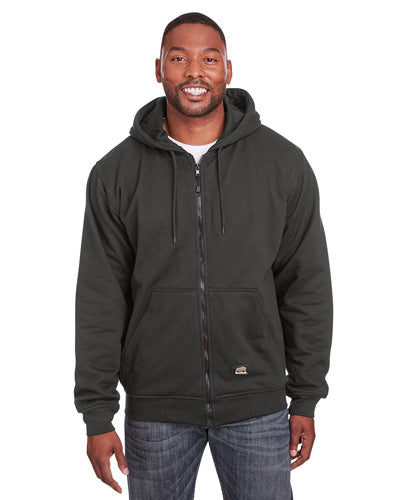 Charcoal Custom Thermal Lined Full Zip Sweatshirt with logo