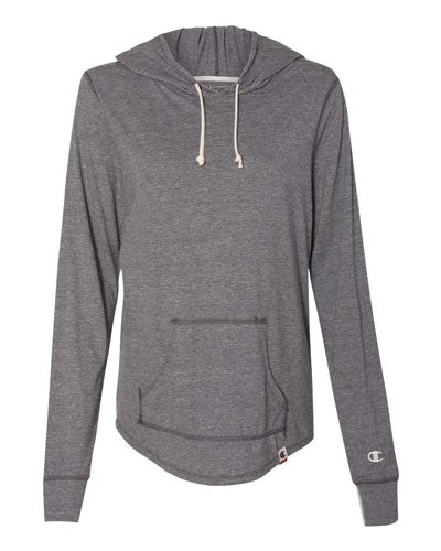 Charcoal Custom Champion Women's Originals Triblend Hooded Pullover