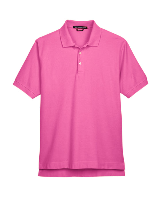 Charity Pink Devon & Jones Pima Pique Polo With Logo