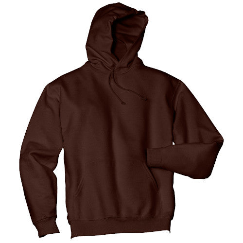 Chocolate Custom Jerzees Hooded Sweatshirt