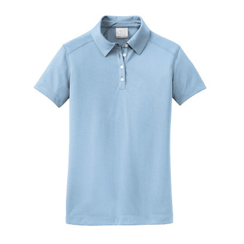Cirrus Blue Nike Dri-FIT Ladies Texture Shirt With Logo