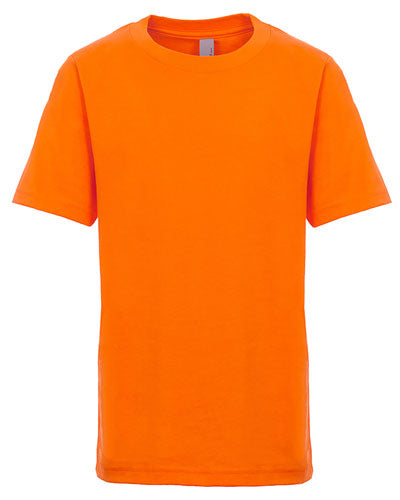 Classic Orange Custom Next Level Youth Boys' Cotton Crew