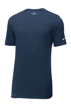 College Navy Custom Nike Cotton T-Shirt
