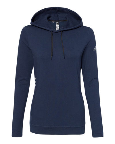 Collegiate Navy Custom Adidas - Women's Lightweight Hooded Sweatshirt