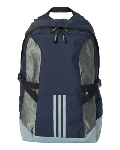 Collegiate Navy/ Light Grey/ Black Custom Adidas - 3 Stripe Backpack