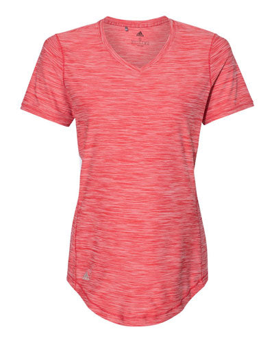 Collegiate Red Custom Adidas - Women's Melange Tech T- Shirt