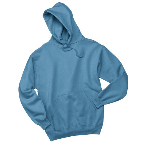 Columbia Blue Custom Jerzees Hooded Sweatshirt