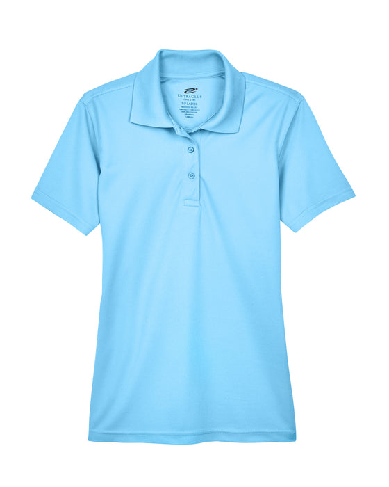Columbia Blue Ladies Dry Wicking Polo With Logo
