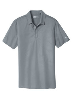 Cool Grey Nike Dri-FIT Embossed Tri-Blade Polo With Logo
