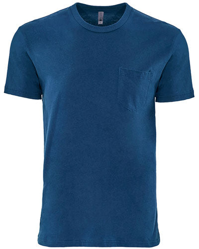 Cool Blue Custom Next Level Unisex Pocket Crew